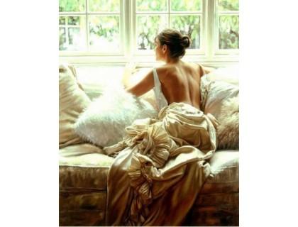Купить Алмазная вышивка DIY Девушка у окна 30 х 40 см (арт. FR103)