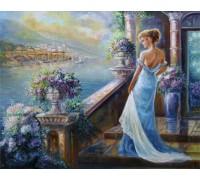 Набор алмазной вышивки Леди в вечернем платье 40 х 50 см (арт. FR388)