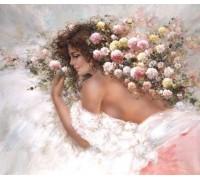 Алмазная вышивка Мечты юной девушки 40 х 30 см (арт. FR469)
