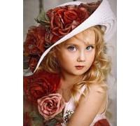 Алмазная вышивка Девочка 53 х 40 см (арт. FR542) полное заполнение