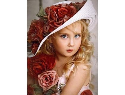 Купить Алмазная вышивка Девочка 53 х 40 см (арт. FR542) полное заполнение