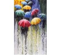 Набор алмазной вышивки Под дождем яркие зонты 25 х 20 см (арт. FS050)
