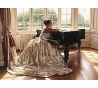 Алмазная вышивка Девушка у рояля 40 х 30 см (арт. FS151)