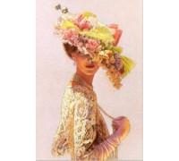 Алмазная вышивка Дама с шляпой 30 х 20 см (арт. FS163)