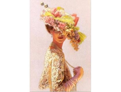 Купить Алмазная вышивка Дама с шляпой 30 х 20 см (арт. FS163)
