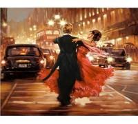 Алмазная вышивка Город в ритме танца 30 х 30 см (арт. FS336)