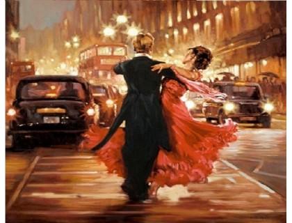 Купить Алмазная вышивка Город в ритме танца 30 х 30 см (арт. FS336)