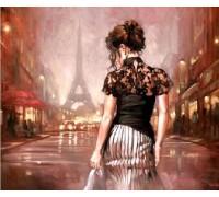 Алмазная вышивка Париж в стиле ретро 30 х 40 см (арт. FS337)