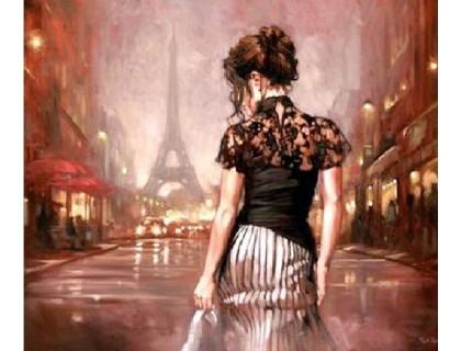 Купить Алмазная вышивка Париж в стиле ретро 30 х 35 см (арт. FS337)