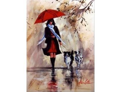 Купить Алмазная вышивка Сквозь дождь иду к тебе 30 х 40 см (арт. FS359)