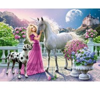 Набор алмазной вышивки Принцесса с единорогом 40 х 30 см (арт. FS401)
