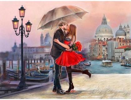 Купить Алмазная вышивка Романтика в Венеции 50*40 см (арт. FS420)