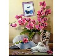 Набор алмазной вышивки Орхидеи модницы 30 х 40 см (арт. FS463)