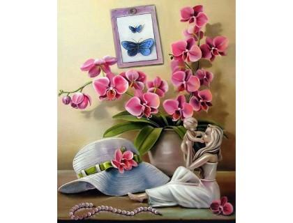 Купить Набор алмазной вышивки Орхидеи модницы 30 х 40 см (арт. FS463)