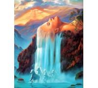 Набор алмазной мозаики Хозяйка водопада 40 х 30 см (арт. FS501)