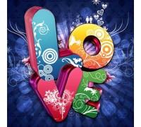 Алмазная вышивка набор Любовь в стиле граффити 40 х 40 см (арт. FS696)