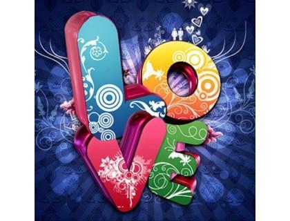 Купить Алмазная вышивка набор Любовь в стиле граффити 40 х 40 см (арт. FS696)