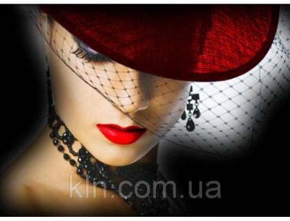 Купить Картина с алмазной вышивки 30 х 45 см Дама в красном (арт. FS723) полная выкладка