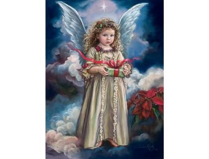 Купить Алмазная вышивка Подарок ангела 50*40 см (арт. FS738)
