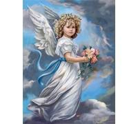 Алмазная мозаика Молитва ангела 50 х 40 см (арт. FS739)