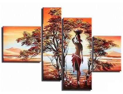 Купить Набор мозаики алмазной модульная Полиптих Африка 80 х 41 см (арт. FS790)