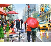Алмазная мозаика Дождливое утро Нью-Йорка 40 х 55 см (арт. FS805)