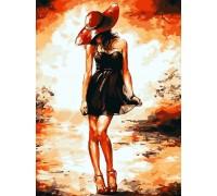 Алмазна мозаїка Дівчина у Шанель 40 х 30 см (арт. FS809)