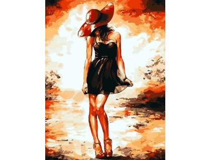 Купить Алмазна мозаїка Дівчина у Шанель 40 х 30 см (арт. FS809)