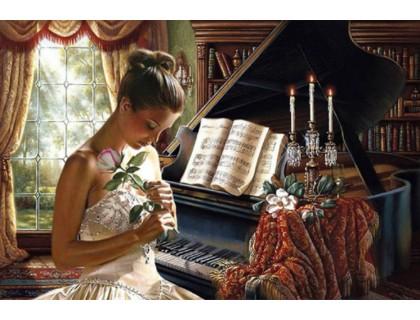 Купить Алмазна мозаїка Мрії про коханого 40 х 60 см (арт. FS814)