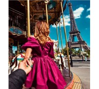 Алмазна мозаїка Follow me Paris 40 х 50 см (арт. FS816)