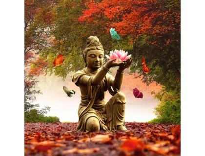 Купить Алмазная вышивка квадратные камни Дух Будды 40 х 40 см (арт. FS874)