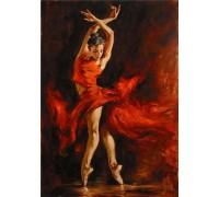 DIY Алмазная вышивка 40 х 30 см на подрамнике Влюблена в танго (арт. TN029)