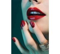 Алмазная вышивка 40 х 30 см на подрамнике Красная помада на губах (арт. TN699)