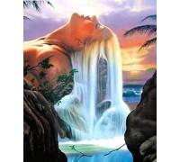 Алмазная вышивка 40 х 30 см на подрамнике Царица водопада (арт. TN873)