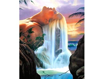 Купить Алмазная вышивка 40 х 30 см на подрамнике Царица водопада (арт. TN873)