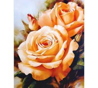 Алмазная вышивка без коробки MyArt Букет чайных роз 20 х 25 см (арт. MA476)