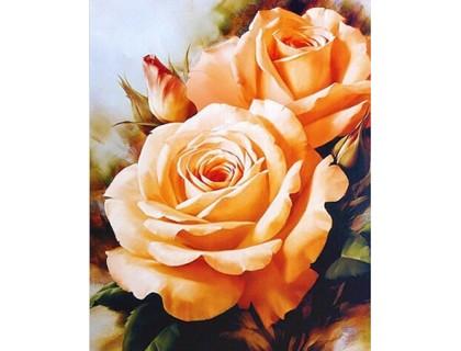 Купить Алмазная вышивка без коробки MyArt Букет чайных роз 20 х 25 см (арт. MA476)