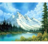 Алмазная вышивка без коробки MyArt Горный пейзаж 40 х 30 см (арт. MA478)