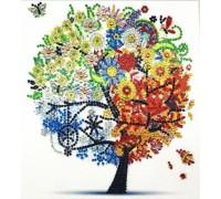 Алмазная мозаика 5D Дерево жизни 24 х 24 см (арт. PR1207)