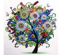 Алмазная мозаика 5D Весеннее дерево 24 х 24 см (арт. PR1208)