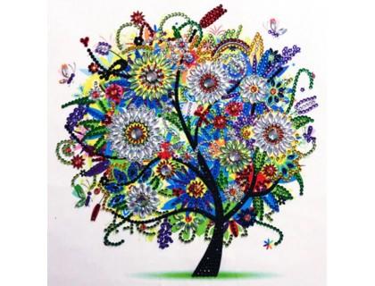 Купить Алмазная мозаика 5D Весеннее дерево 24 х 24 см (арт. PR1208)