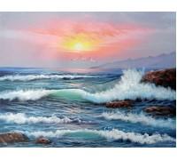 Алмазная вышивка Море на закате 30 х 40 см (арт. FR095)