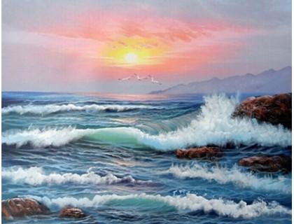 Купить Алмазная вышивка Море на закате 30 х 40 см (арт. FR095)