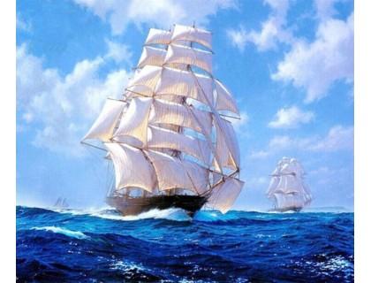 Купить Набор алмазной вышивки Корабль в море 30 х 40 см (арт. FS034)