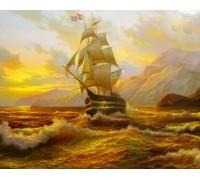 Набор алмазной вышивки Корабль на закате 37 х 30 см (арт. FS036)