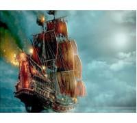 Алмазная вышивка Корабль в ночи 40 х 30 см (арт. FS267)