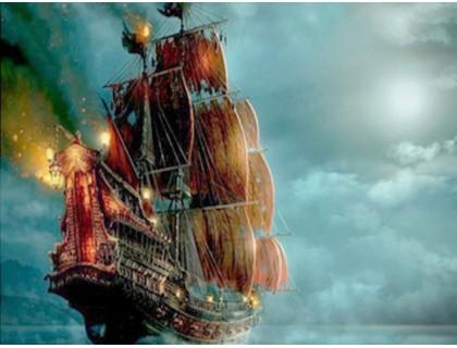 Купить Алмазная вышивка Корабль в ночи 40 х 30 см (арт. FS267)