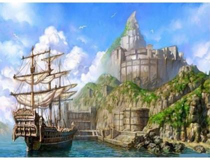 Купить Алмазная вышивка Корабль у берега 40 х 30 см (арт. FS269)