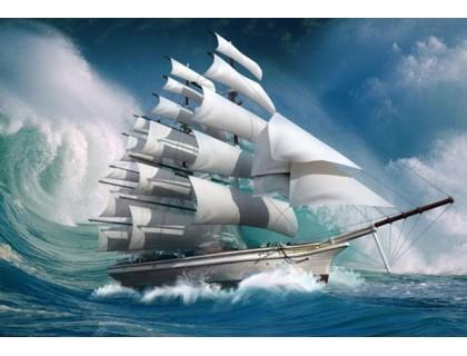 Купить Алмазная вышивка Покоряя океан 40 х 50 см (арт. FS300)
