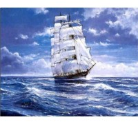 Набор алмазной мозаики Корабль в океане 40 х 30 см (арт. FS365)